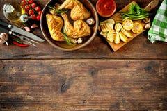 Gegrillte Hühnerbeine Lizenzfreie Stockbilder