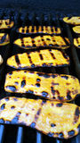 Gegrillte Süßkartoffeln lizenzfreies stockbild