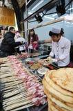 Gegrillte Straßen-Nahrungsmittel Stockfotografie