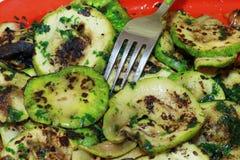 Gegrillte Zucchini lizenzfreies stockbild