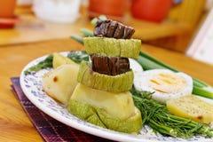 Gegrillte Zucchini Stockbilder