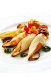 Gegrillter Calamari stockbilder