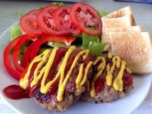 Gegrillter japanischer Burger Lizenzfreies Stockbild