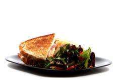 Gegrillter Käse mit Salat Lizenzfreies Stockfoto