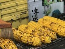 Gegrillter Mais und Butter in Fuji Lizenzfreie Stockfotos