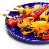 Gegrillter Mini Sweet Peppers lizenzfreies stockbild