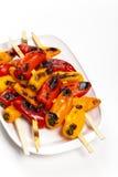 Gegrillter Mini Sweet Peppers lizenzfreie stockbilder