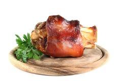 Gegrillter Schweinefleischweißer rheinwein Lizenzfreies Stockbild