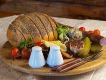 Gegrilltes Brot Stockbilder