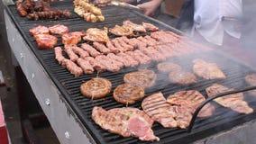 Gegrilltes Fleisch stock video footage