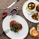 Gegrilltes Fleisch mit Gemüse Stockfoto