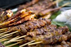 Gegrilltes Fleisch, Schweinefleisch und Huhn Lizenzfreies Stockbild