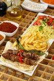 Gegrilltes Fleisch u. x28; kebab& x29; Stockfoto