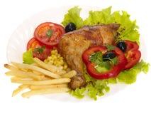 Gegrilltes Hühnerbein Stockfoto