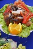 Gegrilltes Huhn mit Gemüse Lizenzfreies Stockbild