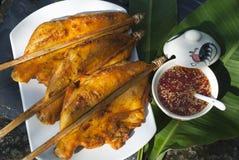 Gegrilltes Huhn mit Paprika-Soße Lizenzfreie Stockfotografie