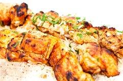 Gegrilltes Huhn mit Reis Stockfotos