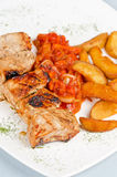 Gegrilltes kebab Schweinefleisch Lizenzfreie Stockfotos