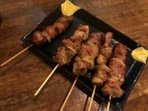 Gegrilltes Rindfleisch japanischer Art Yakiniku stockfoto