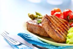 Gegrilltes Rindfleisch-Steak Stockbild