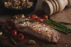 gegrilltes Rindfleischlendensteak stockbild