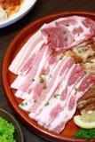 Gegrilltes Schweinefleisch Korea. Stockfoto