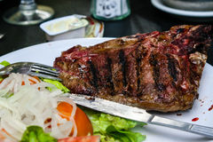 Gegrilltes Steak Stockfotos
