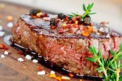 Gegrilltes Steak Stockfoto