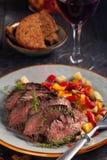 Gegrilltes Steak und Gemüse Lizenzfreie Stockbilder