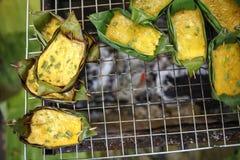 Gegrilltes thailändisches Omelett Lizenzfreie Stockbilder