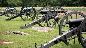 Gegroepeerde Federale Artillerie royalty-vrije stock foto
