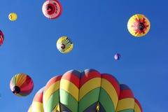Gegroepeerde Hete Luchtballons over Reno, NV stock foto