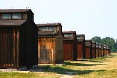Gehäuse in Auschwitz Stockbild