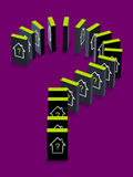 Gehäuse-Domino-Effekt Stockbild