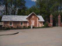 Gehöft des Landsitzes Traku Voke (Vilnius, Litauen) Lizenzfreies Stockfoto