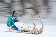 Gehörntes Schlitten-Rennen 2012 in Turecka, Slowakei Stockbilder