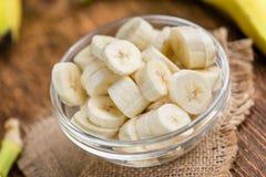Gehackte Bananen Stockbilder