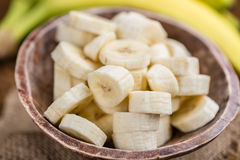 Gehackte Bananen Stockfotografie