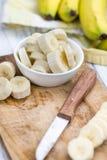 Gehackte Bananen Stockfotos
