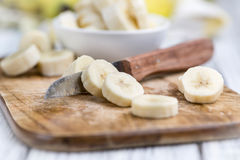 Gehackte Bananen Lizenzfreie Stockfotografie