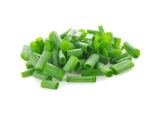 Gehackte grüne Zwiebeln Stockfotos
