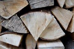 Gehackte Holzstapelnahaufnahme Lizenzfreies Stockbild