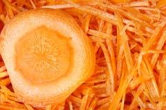 Gehackte Karotten lizenzfreie stockfotos