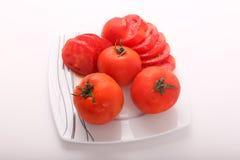 Gehackte Tomaten stockbild
