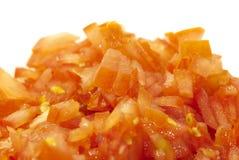 Gehackte Tomaten Stockfoto