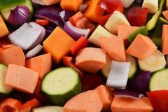 Gehackter Gemüsehintergrund Lizenzfreie Stockfotos