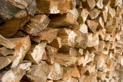 Gehacktes Holz Lizenzfreie Stockfotos