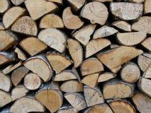 Gehacktes Holz Stockbilder