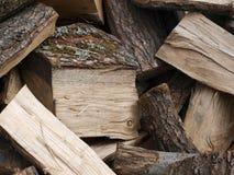 Gehacktes Holz Stockfotos