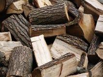 Gehacktes Holz Stockfoto